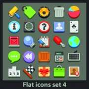 Link toDifferent flat icons vector set 03