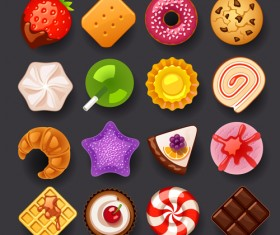 Vivid Food Icons vector 04