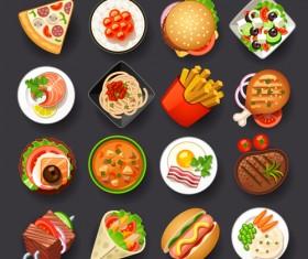 Vivid Food Icons vector 05