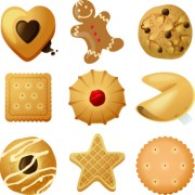 Link toDifferent food objects icons vector 04