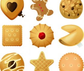 Different Food objects icons vector 04