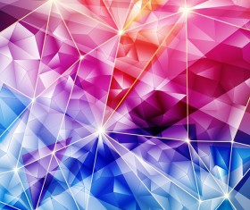 Glass Geometric shapes background vector