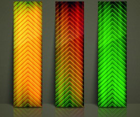 Colored Vertical banner vector 02