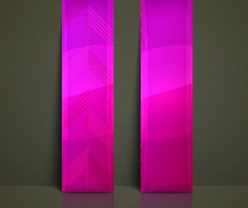 Colored Vertical banner vector 03