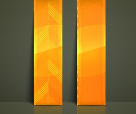 Colored Vertical banner vector 04
