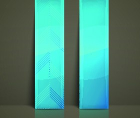 Colored Vertical banner vector 05
