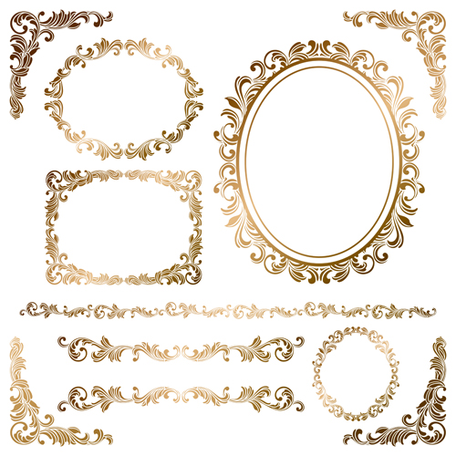 Gold Decoration Border Vector 02 Free Download