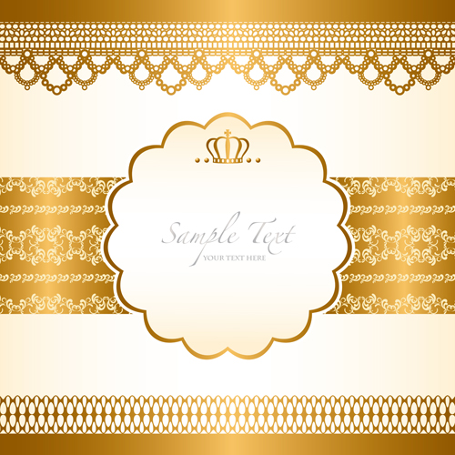 Gold elements vector backgrounds 01