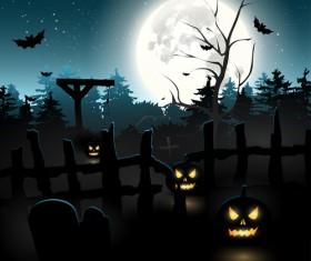 Happy Halloween backgrounds vector set 01