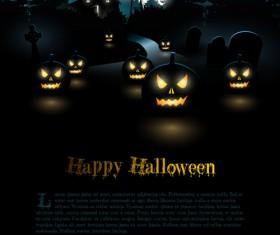 Happy Halloween backgrounds vector set 02