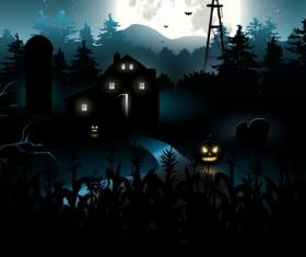 Happy Halloween backgrounds vector set 05