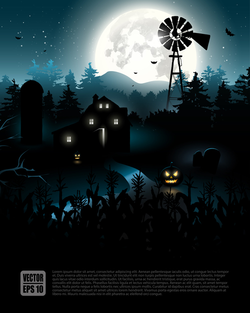 happy halloween backgrounds vector set 05 - Download Halloween Pictures Free