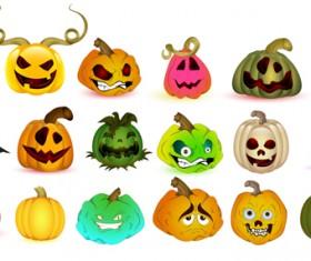 Halloween Jack O Lantern Vector set 01