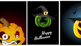 Halloween Jack O Lantern Vector set 04