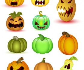 Halloween Jack O Lantern Vector set 05