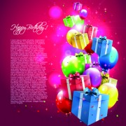 Link toColorful balloons happy birthday greeting cards background 03
