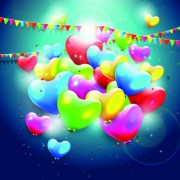 Link toColorful balloons happy birthday greeting cards background 05