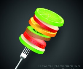 Health object design vector 01