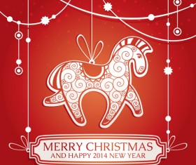 2014 horses creative design vector 14