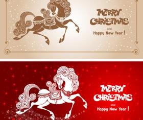 2014 horses creative design vector 15