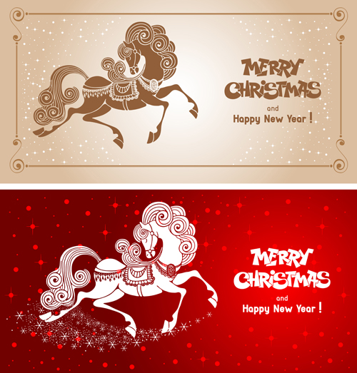 2014 horses creative design vector 15