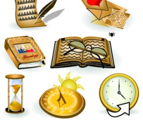 Modern Icons objects vector set 02