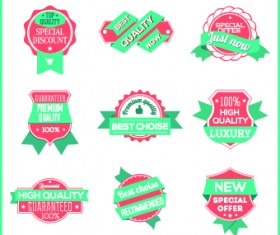 Best Label with ribbon vintage style vector 02