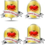 Link toTomato ketchup labels vector 05