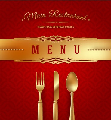 Luxurious Restaurant Cover Background 03 - Vector Background, Vector ...