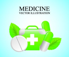 Medicine vector background Illustration 04