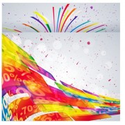 Link toShiny multicolor background vector 03