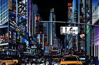 Draw Nightlife city design vector 05