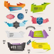Link toNumbered banners backgrounds vector 04