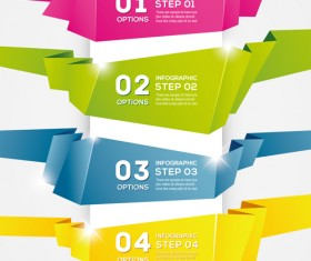 Numbered Banners backgrounds vector 05