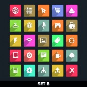 Link toPaper cut icons vector set 02