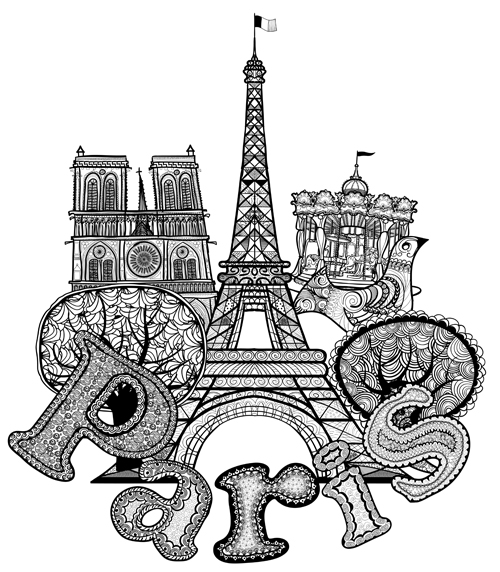 Paris Symbols Elements Vector 02 Vector Logo Free Download