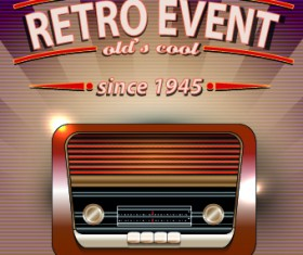 Vector of Retro Party Posters set 02