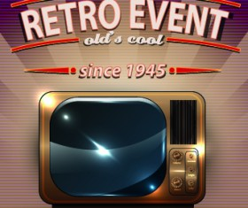 Vector of Retro Party Posters set 05
