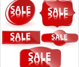 Sale buttons vectors