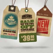 Link toCardboard sale tag vector 01