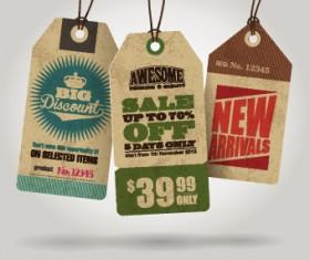 Cardboard Sale tag vector 01