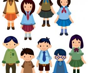 Cartoons School elements vector set 05