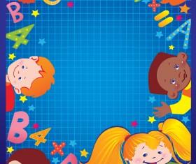 Cartoons School elements vector set 06