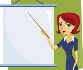 Cartoons School elements vector set 09