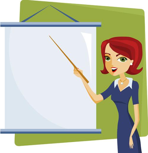 Cartoons school elements vector set 09 vector cartoon vector people