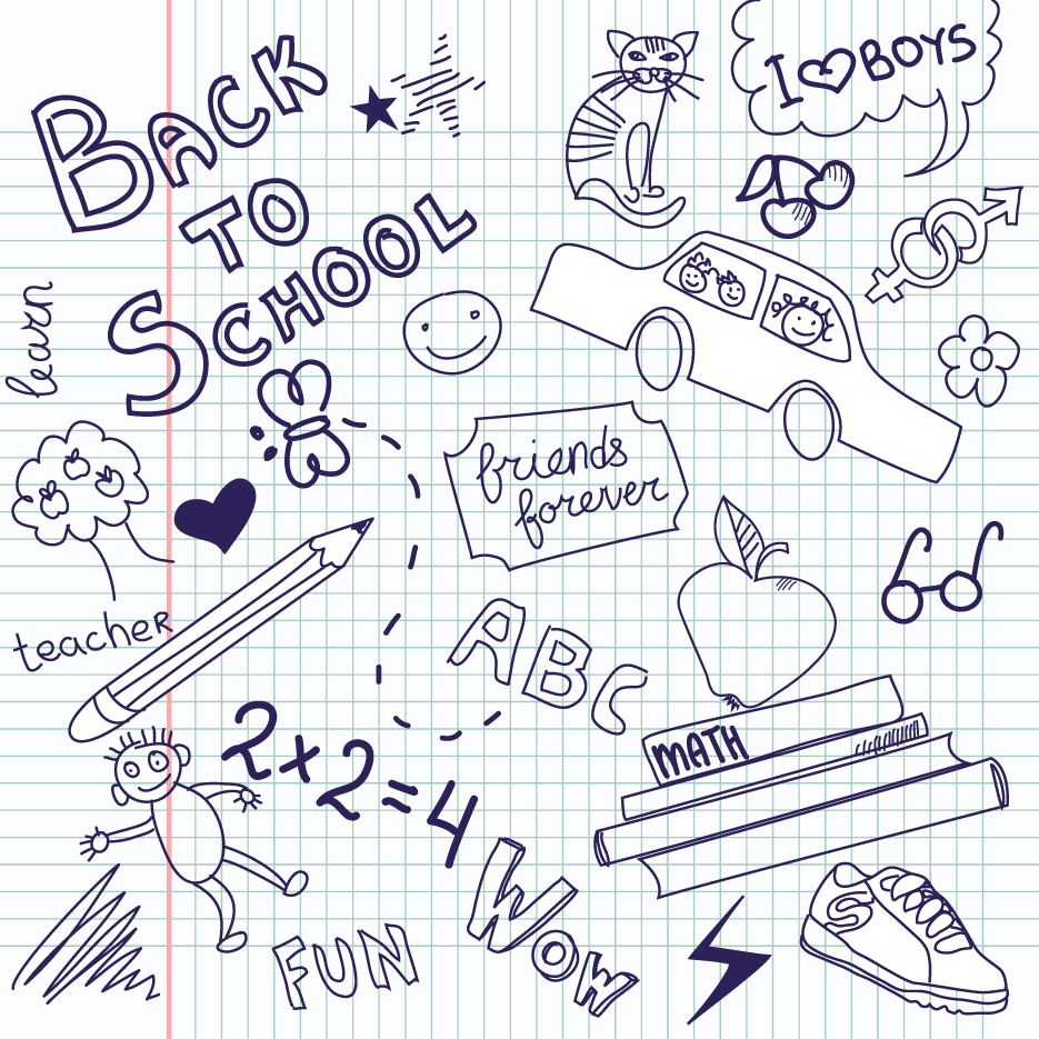 School Drawn Creative Vector 11 Vector Other Free Download