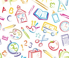 School drawn Creative vector 13