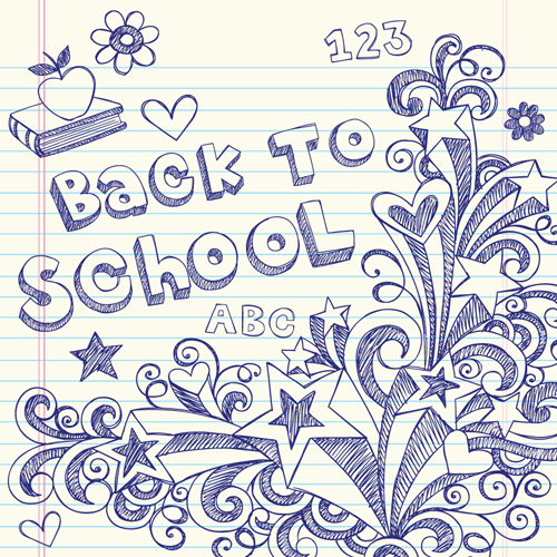 School drawn Creative vector 04 - Vector Other free download
