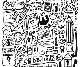 School drawn Creative vector 08