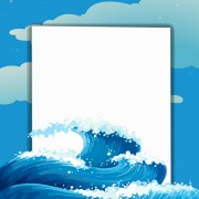 Link toTempestuous sea waves backgrounds vector 01
